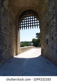 Medieval gate in Besalu, Catalunya, Spain