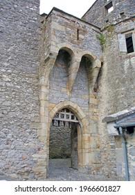 Medieval gateway with portcullis, Ireland