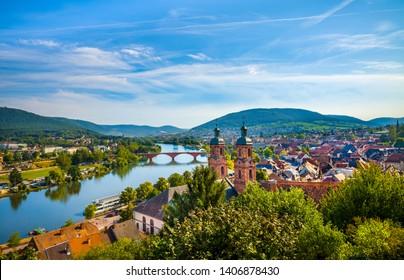 Medieval German town Miltenberg on Main river, Bavaria.
