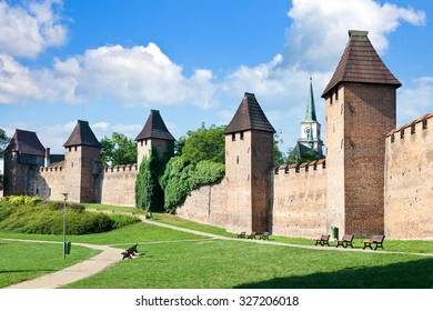 medieval gothic fortification, town Nymburk, Central Bohemia, Czech republic