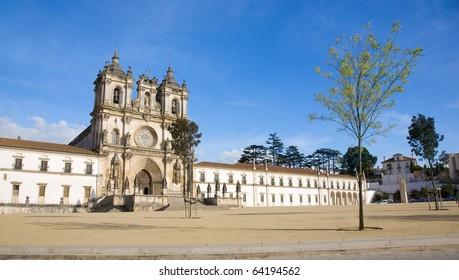 "The medieval gothic monastery of ""Real Abadia de Santa Maria de Alcoba�§a"", home of the ancient order of Cister, Alcobaca, Silver Coast, Portugal"