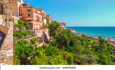 Medieval Grottammare village on the adriatic sea, Marche, Italy