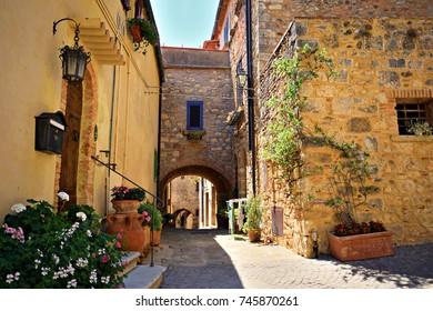 medieval hamlet of Bibbona in Livorno, Tuscany