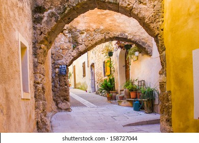 Medieval houses in Mediterranean France