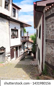 Medieval houses in old town (Kaleici) in Ankara, Turkey