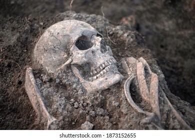 Medieval human remains unearth during archaeological excavation