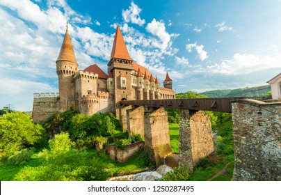 Medieval Hunyad Corvin castle, Hunedoara town,Transylvania regiom, Romania, Europe