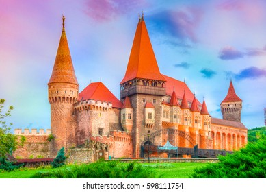 Medieval Hunyad Corvin castle, Hunedoara town,Transylvania regiom,Romania,Europe
