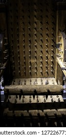 Medieval instrument of torture, detail of torture in the inquisition