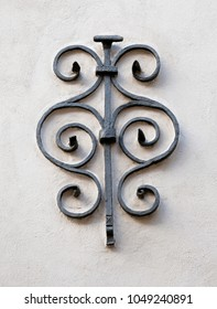 Medieval ironcast wall decoration