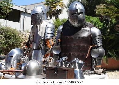 Medieval jousting armor