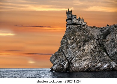 Medieval knight's castle Swallow's nest, Yalta, Crimea, Russia