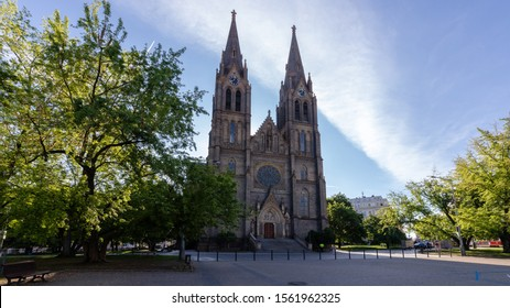 Medieval Kostel sv. Ludmily - Church of St. Ludmila - in Prague, Czech republic - Shutterstock ID 1561962325