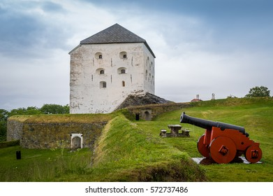 Medieval Kristiansten Fortress, located on a hill east of the city of Trondheim. Norway touristic attractions.