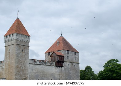 Medieval Kuressaare Episcopal Castle in Saaremaa, Estonia, North Europe.