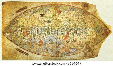 Medieval Map World Drown Before Columbus Stock Photo Edit Now