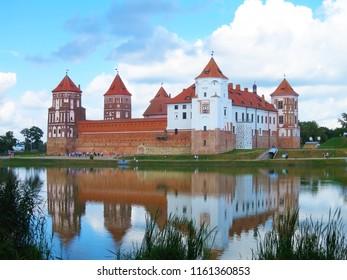 The medieval Mir Castle in Belarus. Mir Castle Belarussia.