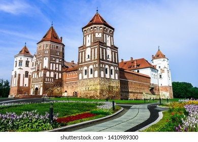 Medieval Mir Castle Complex (Belarus) on a sunny day