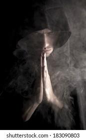 medieval misty monk