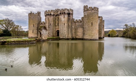 A medieval moated castle