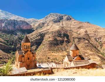 The medieval monastery of Noravank in Armenia. Was founded in 1205. Top view.