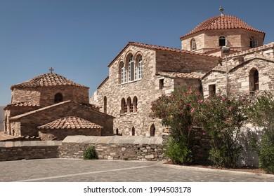 Medieval Monastery of Panagia Ekatontapiliani in Parikia town on Paros Island, Cyclades, Greece
