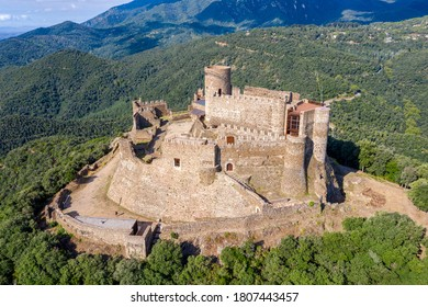 Medieval Montsoriu Castle. in the Montseny Natural Park Catalonia Spain