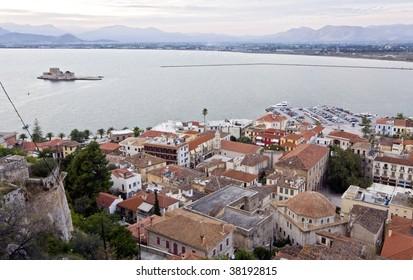 Medieval Nafplio city at Peloponnese, south Greece