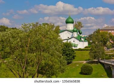 Medieval  Orthodox church in Pskov, Russia