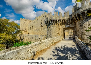 The medieval Palace of the Grand Master of the Knights of Rhodes also known as the Kastello on the Mediterranean island of Rhodes Greece