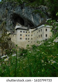 Medieval Predjama Castle on top of the Black Cave, in Slovenia.