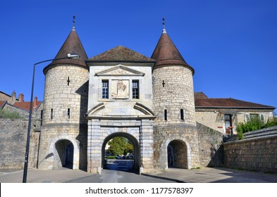 The medieval Rivotte Gate in Besancon, France