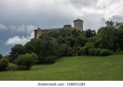 Medieval Rocca di Angera castle, lake Maggiore, Italy