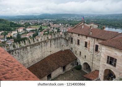 Medieval Rocca di Angera castle, lake Maggiore
