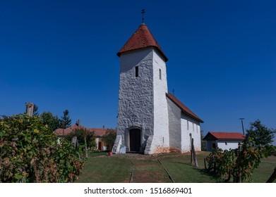 Medieval Roman style (Saint Martin) church in Hevizgyork, Hungary