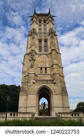 The medieval Saint Jacques Tower in central Paris, France