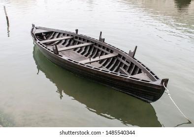 Medieval ship-Condura Croatica in the bay