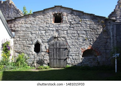 Medieval Stone Building in Visby on Gotland in Sweden