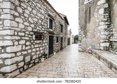 Medieval Street in Rovinj