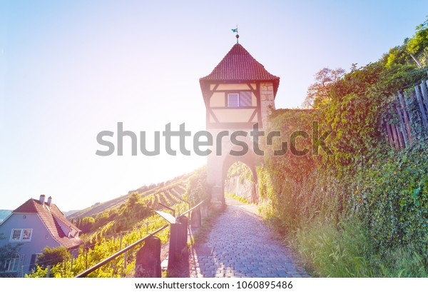 Medieval tower in Esslingen am Neckar, Germany