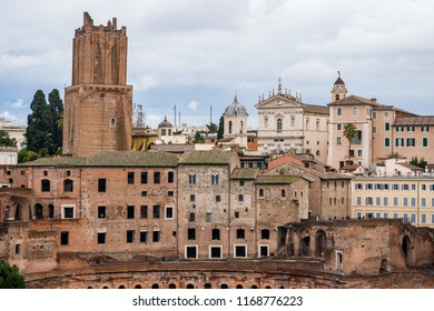 Medieval Tower of Militia in Trajan's Forum in Rome, Italy