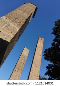 Medieval towers in Piazza Leonardo da Vinci in Pavia, Italy, Europe