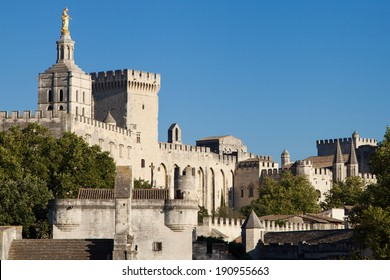 Medieval town of Avignon in Provence, France.