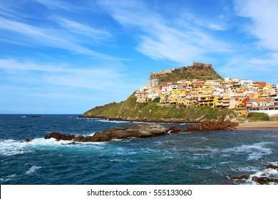 Medieval town of Castelsardo on Sardinia, Italy
