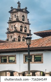 Medieval town centre of Cangas de Onis (Cangues d'Onis), former capital of the Kingdom of Asturias, northwest Spain.