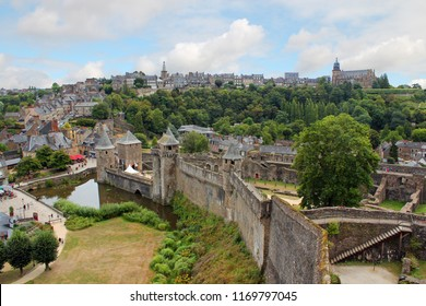 Medieval town of Fougeres with castle, Bretagne, France