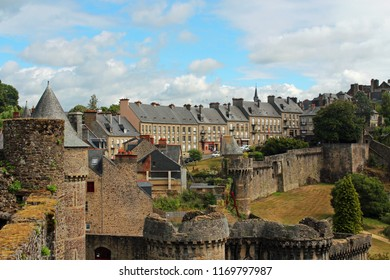 Medieval town of Fougeres with town wall, Bretagne, France