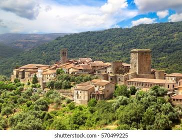 Medieval town of Miranda del Castana. Salamanca, Spain.