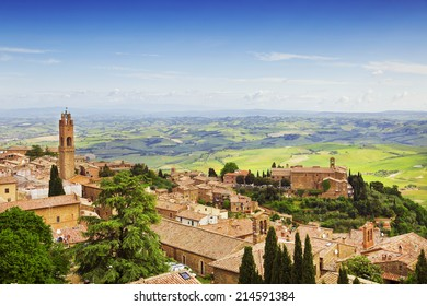 The medieval town of Montepulciano in Italy