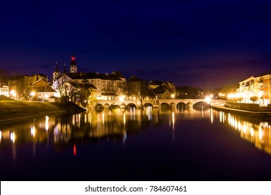 Medieval Town Pisek at the Night, Czech Republic - Shutterstock ID 784607461